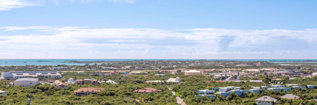 the Downtown region of Providenciales as seen from Blue Mountain