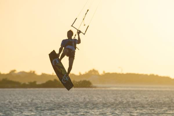 sunset kiteboarding in Turks and Caicos