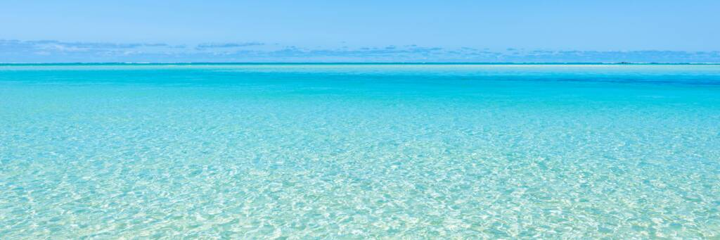 ocean water in the East Bay Islands National Park in the Turks and Caicos