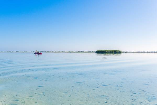 Bottle Creek Lagoon in the East Bay Islands National Park in the Turks and Caicos
