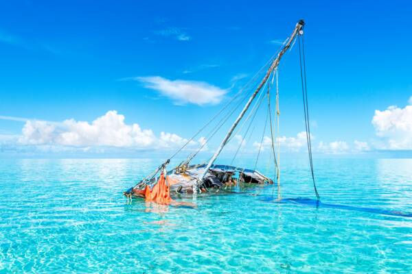 shipwreck in Turks and Caicos