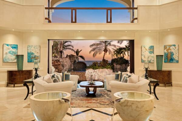 view from inside Emerald Cay over the Caicos Banks.