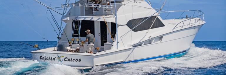 the fight on the deck of a deep sea sport fishing boat in the Turks and Caicos