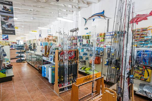 the Walkin Marine fishing supply store on Providenciales
