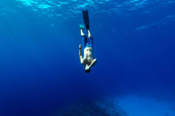 freediving at Malcolm's Road Beach on Providenciales