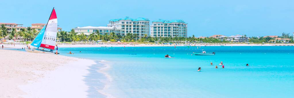the beautiful Grace Bay in the Turks and Caicos Islands