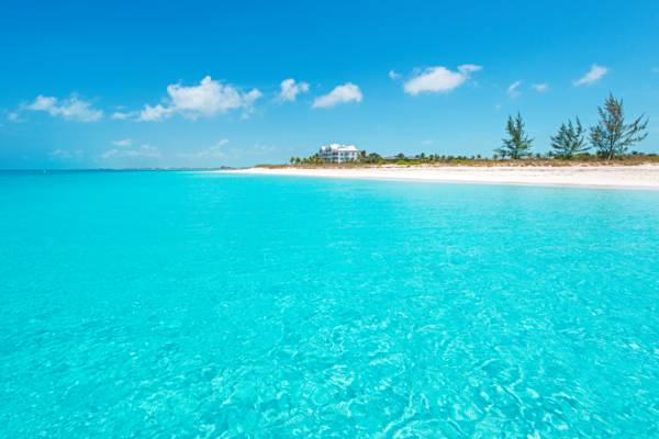 turquoise water at Grace Bay Beach, Providenciales