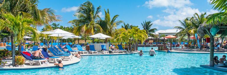 the swimming pool at the Margaritaville at the Grand Turk Cruise Center