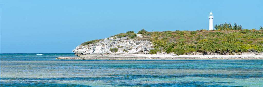 the Grand Turk Lighthouse above North Creek