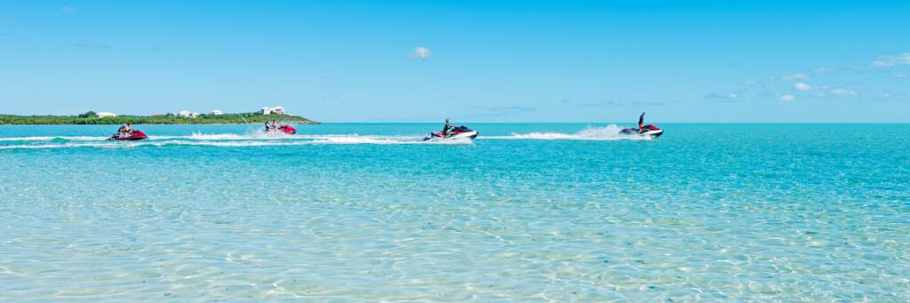 jet ski tour in the clear water of the Turks and Caicos