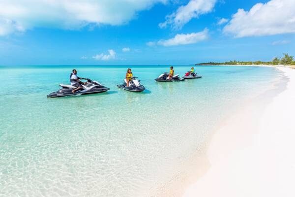 jet skis in the Turks and Caicos