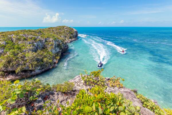 guided jet ski tour in the Turks and Caicos