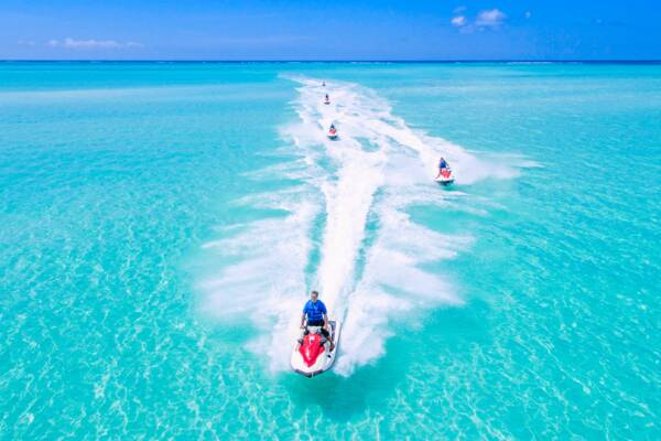 jet skis at Sandy Point in the Turks and Caicos