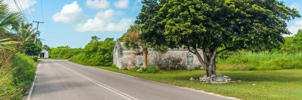 Kew settlement on North Caicos