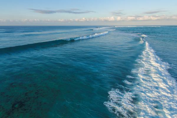 rolling waves at dusk at Northwest Point on Providenciales