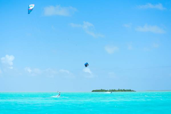 downwind kiteboarding safari through the uninhabited Caicos Cays