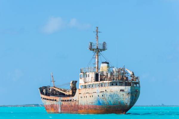 the La Famille Express shipwreck in the Turks and Caicos.