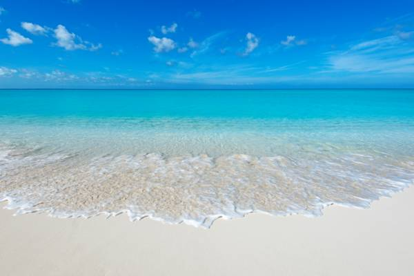 The Beautiful Leeward Beach On Providenciales In Turks And Caicos