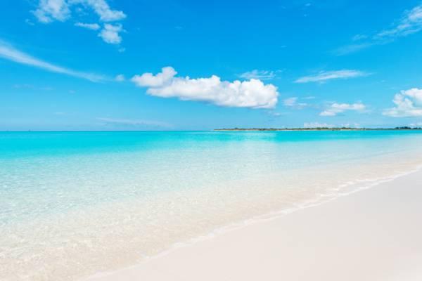 calm ocean water at Leeward Beach on Providenciales