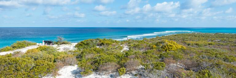 the view from Little Bluff Lookout on Salt Cay