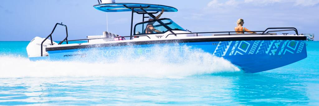 Moana Charters Axopar boat in the Turks and Caicos
