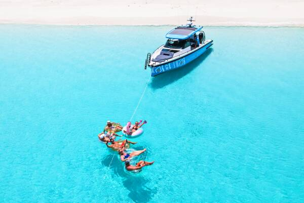 Moana Charters in the clear waters off Water Cay in the Turks and Caicos