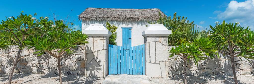 modern replica of a early 1900s Turks and Caicos stone house