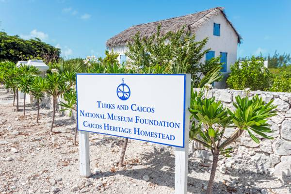 sign for the national museum on Providenciales