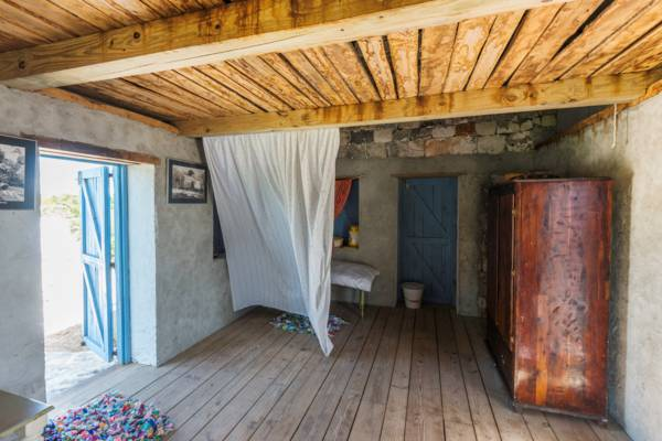 interior of small stone house in the Turks and Caicos