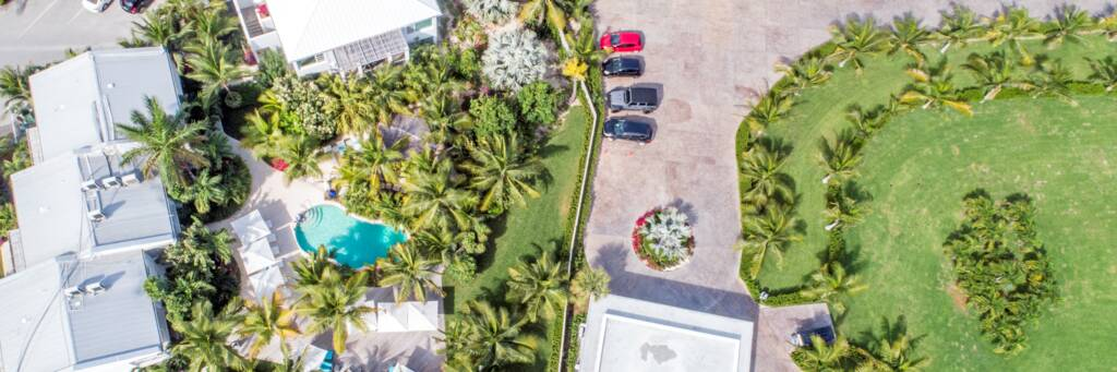 aerial of the Oasis at Grace Bay