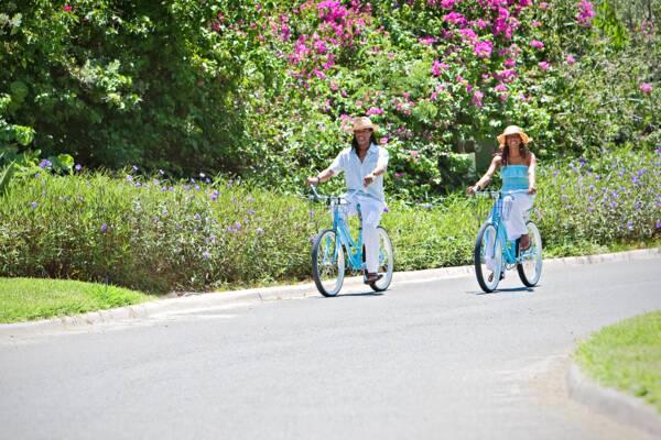 riding bikes in Grace Bay