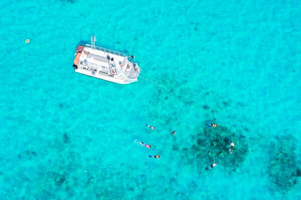 snorkeling in the Caicos Banks with Ocean Outback Adventures
