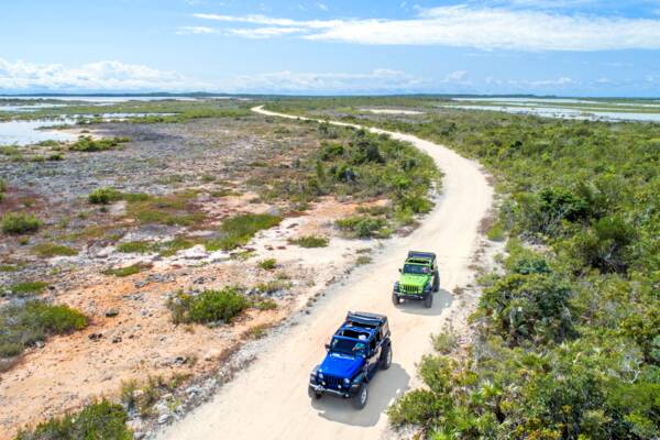 Jeep Wrangler tour on Providneciales near Chalk Sound National Park