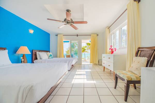 room interior at the Pelican Beach Hotel
