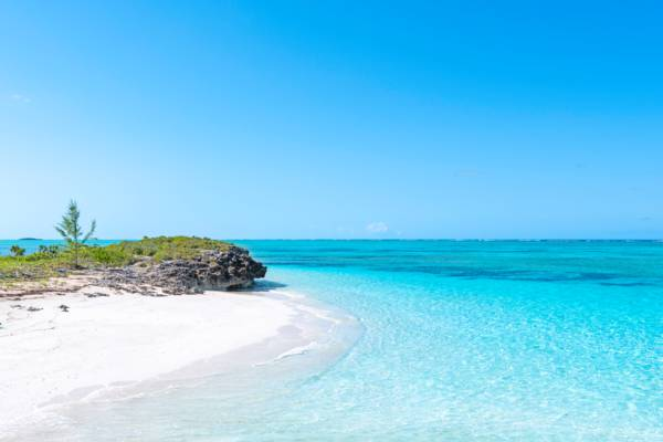 Pumpkin Bluff Beach on North Caicos