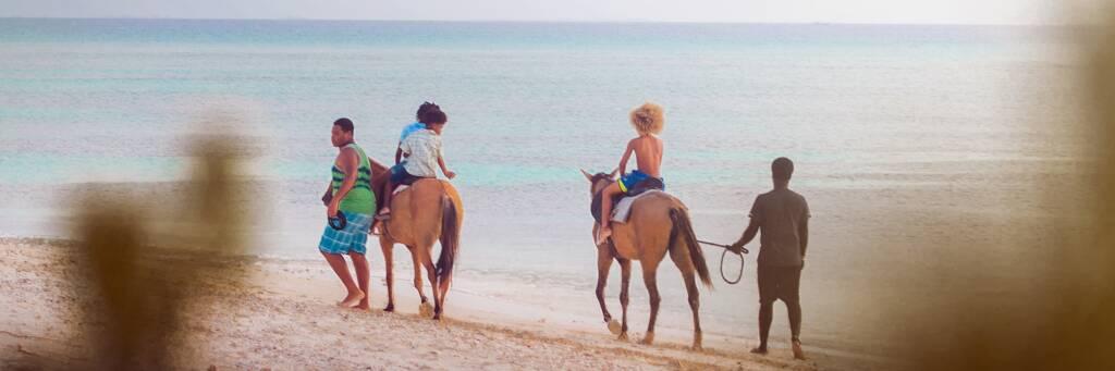 horseback riding on Pillory Beach on Grand Turk