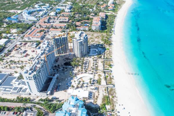 aerial view of the Turks and Caicos Ritz-Carlton construction project
