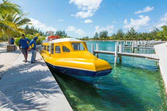 The North Caicos passenger ferry at Sandy Point Marina