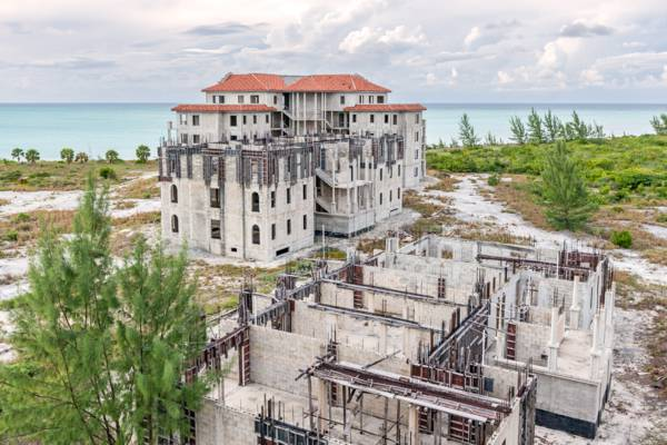 unfinished resort at Sandy Point on North Caicos