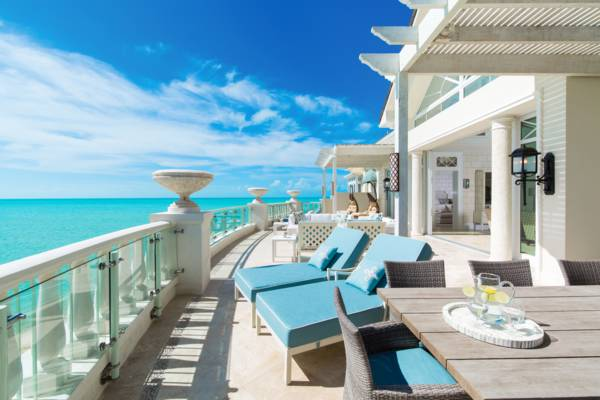 the view over the turquoise waters of Long Bay from the penthouse at the Shore Club