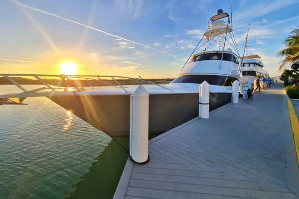 yacht at South Bank Marina