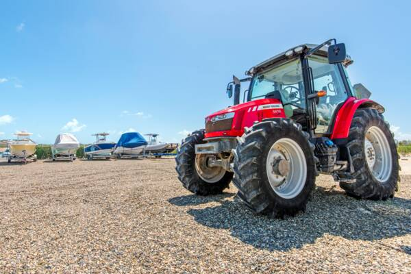 Massey Ferguson 5612 at South Bank Marina in the Turks and Caicos