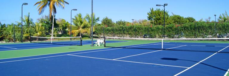 tennis courts in Turks and Caicos