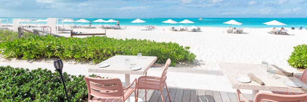 The Grill restaurant on Grace Bay Beach.