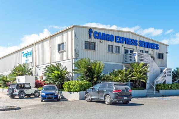 Tropical Shipping and Cargo Express warehouse in Turks and Caicos