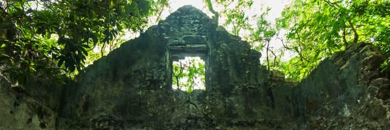Loyalist ruins at Wade's Green Plantation in the Turks and Caicos