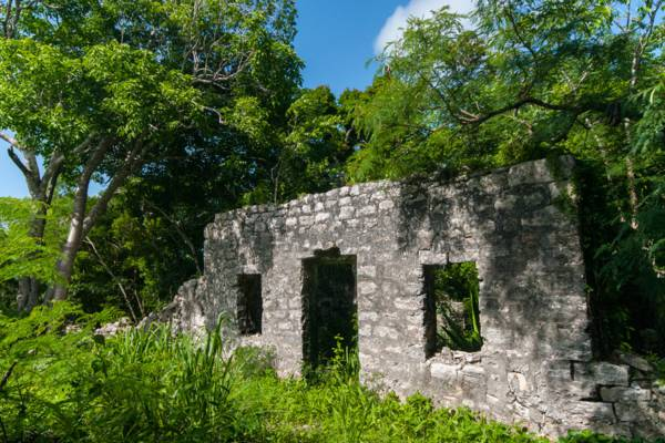 ruins at Wade's Green in the Turks and Caicos