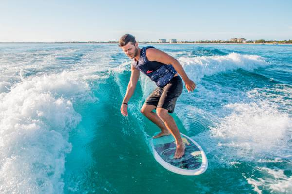 wakesurfing in the Turks and Caicos