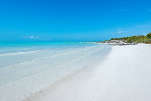 the beach at West Harbour Bluff on Providenciales in the Turks and Caicos