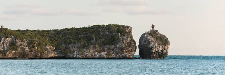 Split Rock at West Harbour Bluff on Providenciales